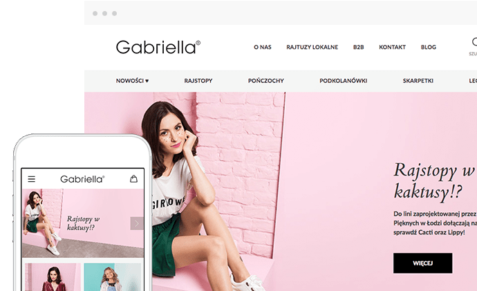 Case Study Gabriella.pl - Sklep internetowy B2C/B2B